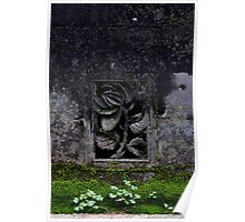 Manmade and Nature _ Rose, Clover and Moss Poster