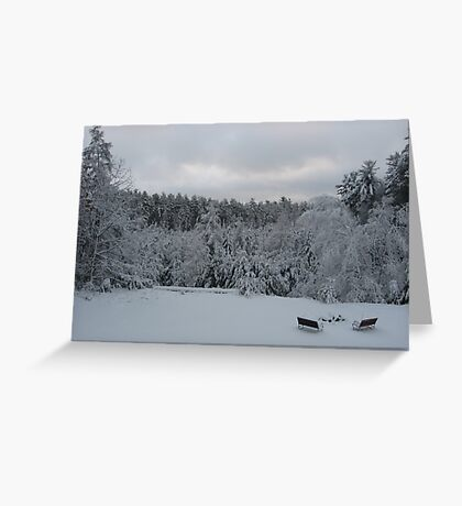 Tranquil Winter Bliss Greeting Card