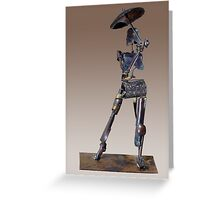 Parasol Figure Greeting Card