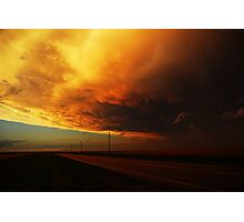 Fiery Evening Photographic Print