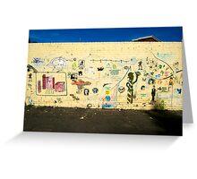 Stencil Wall Greeting Card