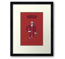 Anton, The Valentine's Yeti Framed Print