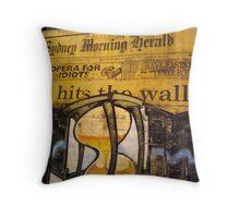 News Wall Throw Pillow