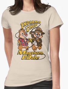 Indiana Chip 'n' Magnum, P.Dale Womens Fitted T-Shirt
