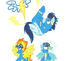 Equestrias Fastest Flyers by PonySplash
