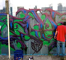 Graffiti Artist at Work 02 by tano