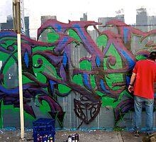 Graffiti Artist at Work 02 by tano