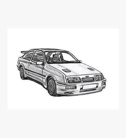 Ford Sierra RS 500 Cosworth 1980s Photographic Print