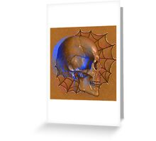 Electric Blue , Traditional Tattoo Skull Design  Greeting Card
