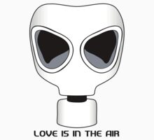 Love Is In The Air, Gas Mask, Anti Valentines Day by holidayswaggv