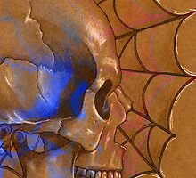 Electric Blue , Traditional Tattoo Skull Design  by IrenesGoodies