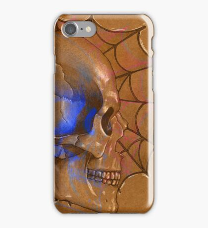 Electric Blue , Traditional Tattoo Skull Design  iPhone Case/Skin