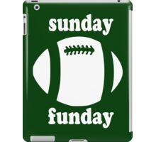 Cute Sunday Funday white design iPad Case/Skin