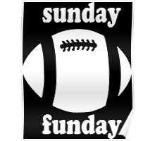 Cute Sunday Funday white design Poster