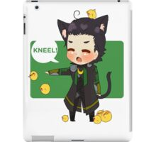 Chibi Lokitty - Kneel! iPad Case/Skin