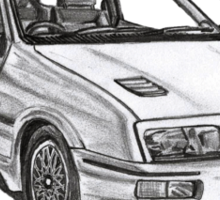 Ford Sierra RS 500 Cosworth 1980s Sticker
