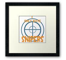 I only date snipers- BLU Framed Print