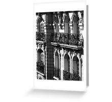 Parisian Balconies, Paris Greeting Card