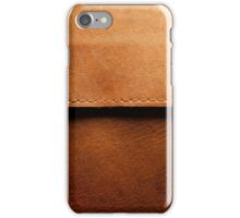 Leather Close-Up (Stitched) iPhone Case/Skin