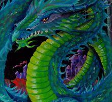 Neon Dragon II by Lori Karels