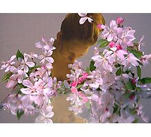 She walks among flowers... Photographic Print
