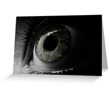 The window to the soul Greeting Card