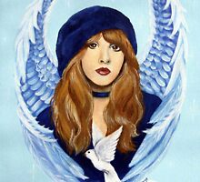 Stevie Nicks White Winged Dove by Lori Karels