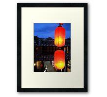 Tamed flame Framed Print