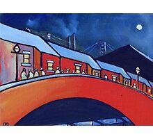 Bridge by moonlight Photographic Print