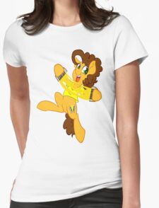 Super Duper Party Pony Cheese! Womens Fitted T-Shirt