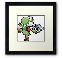 Yoshi throwing turbo Framed Print