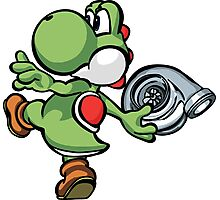 Yoshi throwing turbo Photographic Print