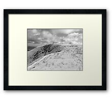 Towards Mangerton summit Framed Print