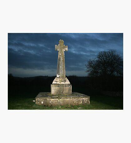 Celtic cross at Dysart Photographic Print