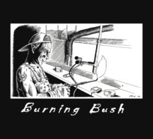 Burning Bush T-shirt by Cartoonydan