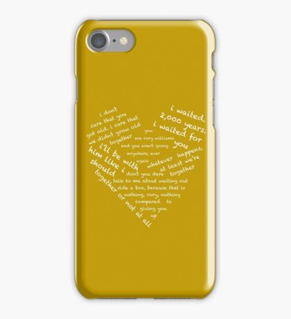Quotes of the Heart - Amy/Rory (White) iPhone Case/Skin