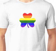 Rainbow shamrock Unisex T-Shirt