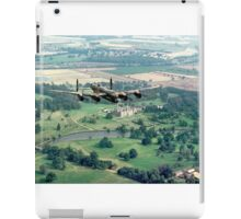 """Lancaster B.1 """"City of Lincoln"""" over Burghley House iPad Case/Skin"""