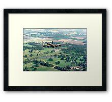 "Lancaster B.1 ""City of Lincoln"" over Burghley House Framed Print"