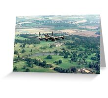 """Lancaster B.1 """"City of Lincoln"""" over Burghley House Greeting Card"""