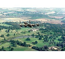 "Lancaster B.1 ""City of Lincoln"" over Burghley House Photographic Print"