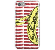 Scream Out Banana (Just Scream) iPhone Case/Skin