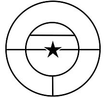 Roundel of the Colombian Air Force (low visibility) Photographic Print