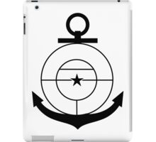 Roundel of the Colombian Naval Aviation (low visibility) iPad Case/Skin