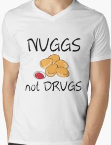 NUGGS NOT DRUGS Mens V-Neck T-Shirt