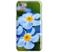 Blue Forget-me-nots II iPhone Case/Skin