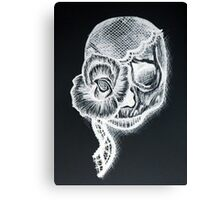 White Inverted Skull Canvas Print