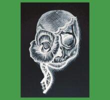 White Inverted Skull Baby Tee