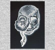White Inverted Skull One Piece - Short Sleeve