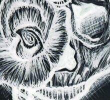 White Inverted Skull Sticker